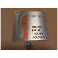 CRAFTA®-Praxisschild silber