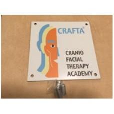 CRAFTA®-Praxisschild weiss